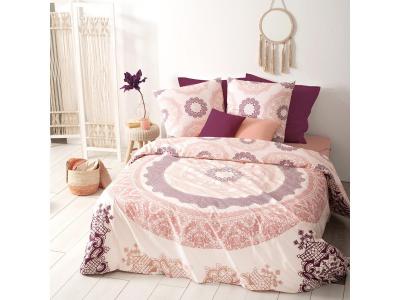 Lenjerie de pat, bumbac, set 2 persoane, Atmosphera, Mandala Pink [0]