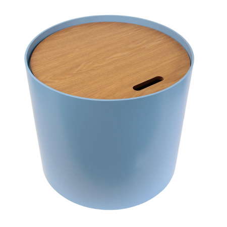 Masuta cafea lemn rotunda Blue2