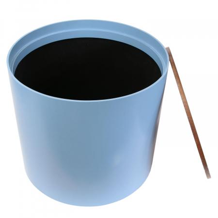Masuta cafea lemn rotunda Blue3