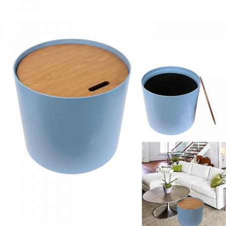 Masuta cafea lemn rotunda Blue0
