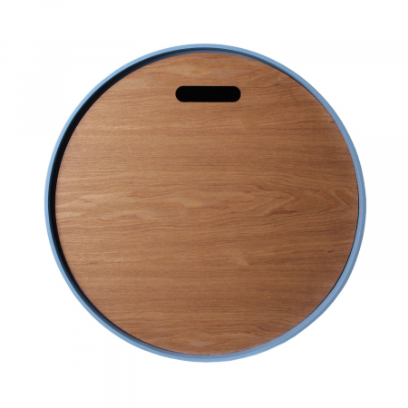 Masuta cafea lemn rotunda Blue4
