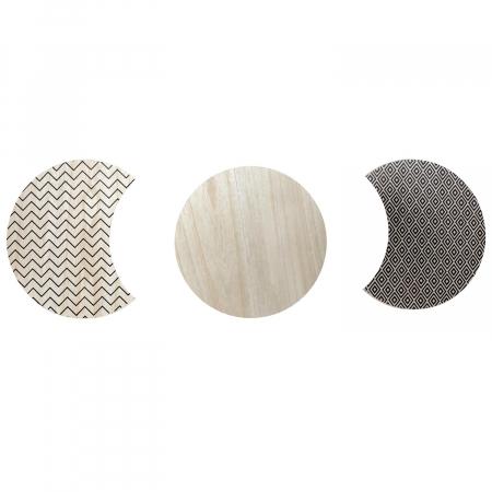 Masuta cafea, set 3 bucati design modern, culori diferite, Trio5