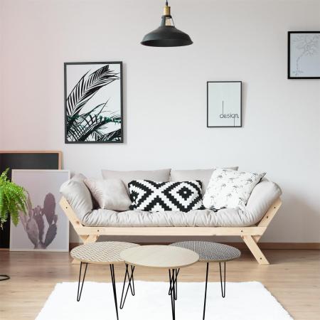 Masuta cafea, set 3 bucati design modern, culori diferite, Trio2