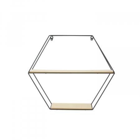 raft metalic pentru perete hexagon [2]