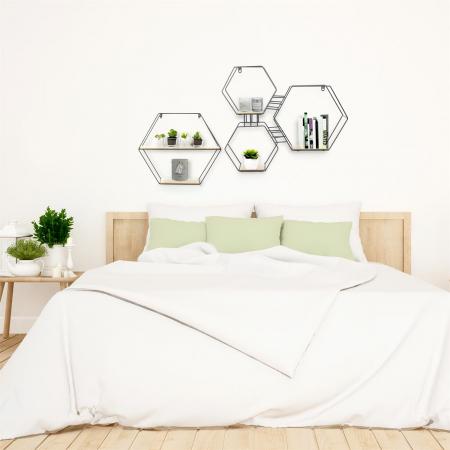 raft metalic pentru perete hexagon [1]