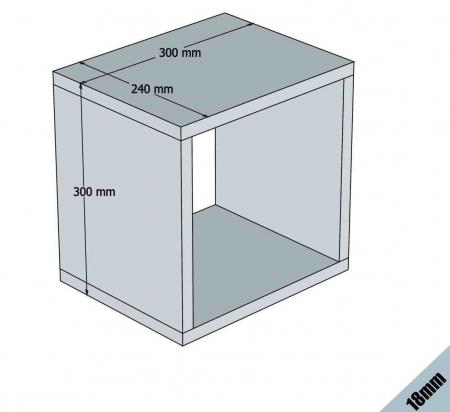 Set 5 rafturi perete Box Crem [3]