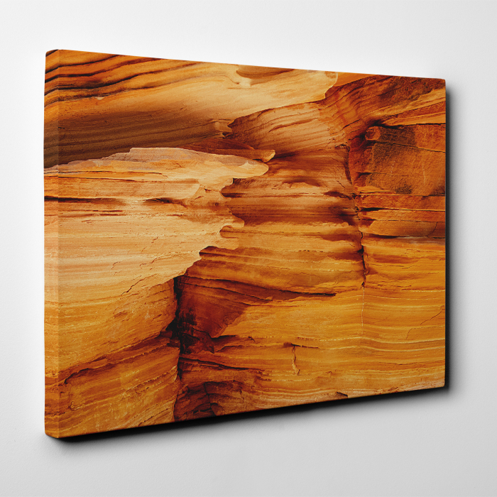 Tablou canvas abstract, Interiorul unui canion 1