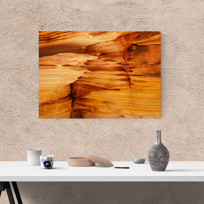 Tablou canvas abstract, Interiorul unui canion 3