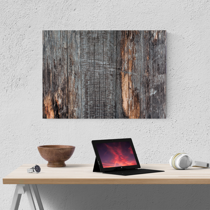 Tablou canvas abstract, Lemn invechit 3