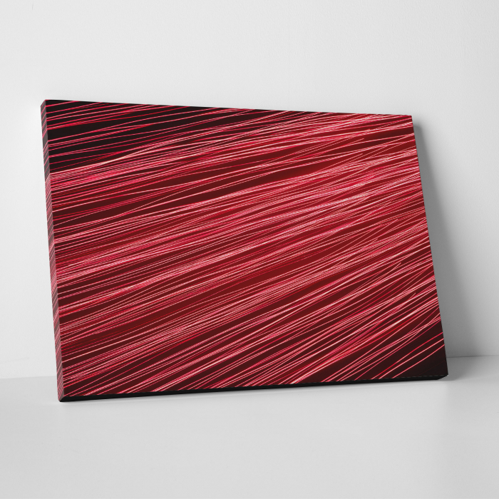 Tablou canvas abstract, Linii rosiatice 0
