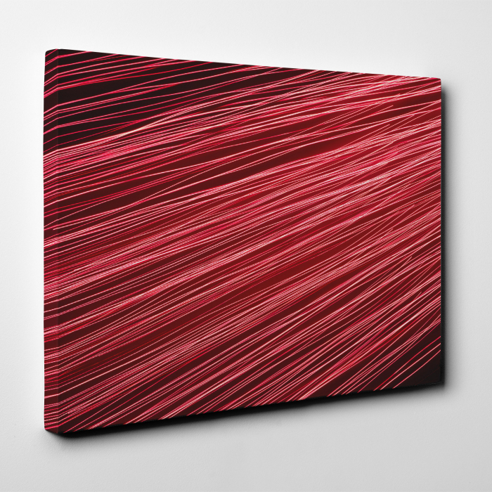 Tablou canvas abstract, Linii rosiatice 1
