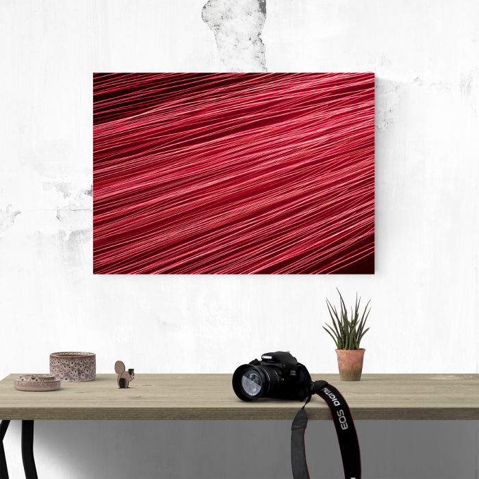 Tablou canvas abstract, Linii rosiatice 3