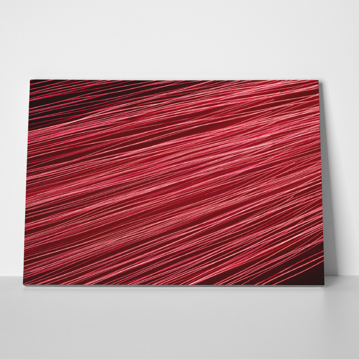 Tablou canvas abstract, Linii rosiatice 2