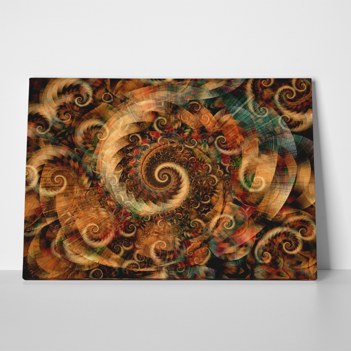 Tablou canvas abstract, Spirale colorate 2