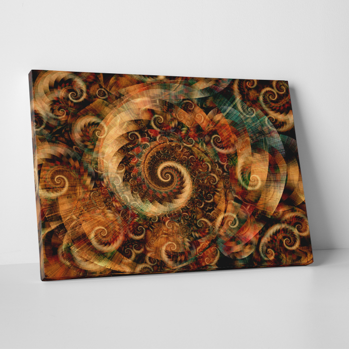 Tablou canvas abstract, Spirale colorate 0
