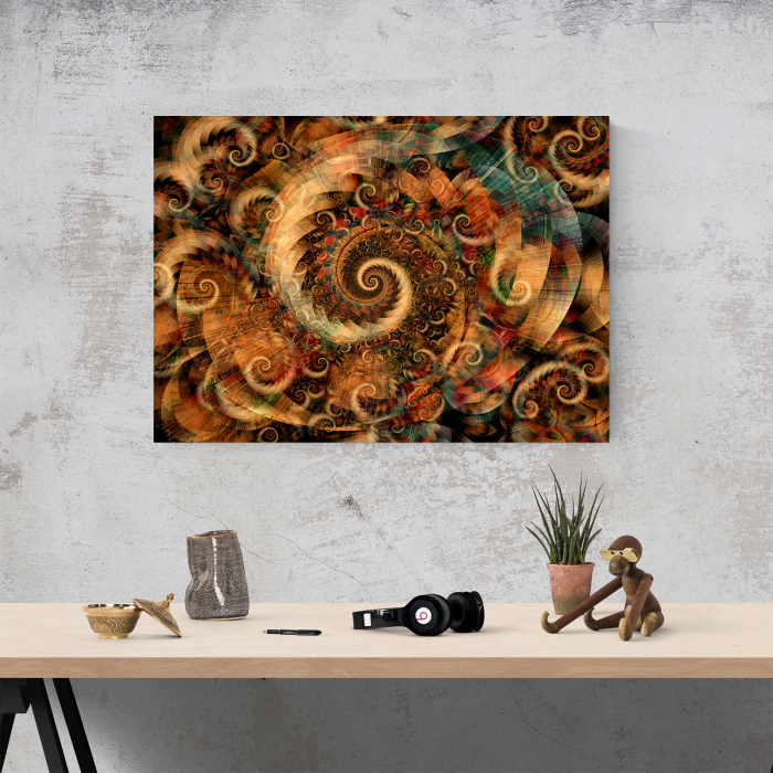 Tablou canvas abstract, Spirale colorate 1
