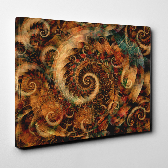 Tablou canvas abstract, Spirale colorate 3