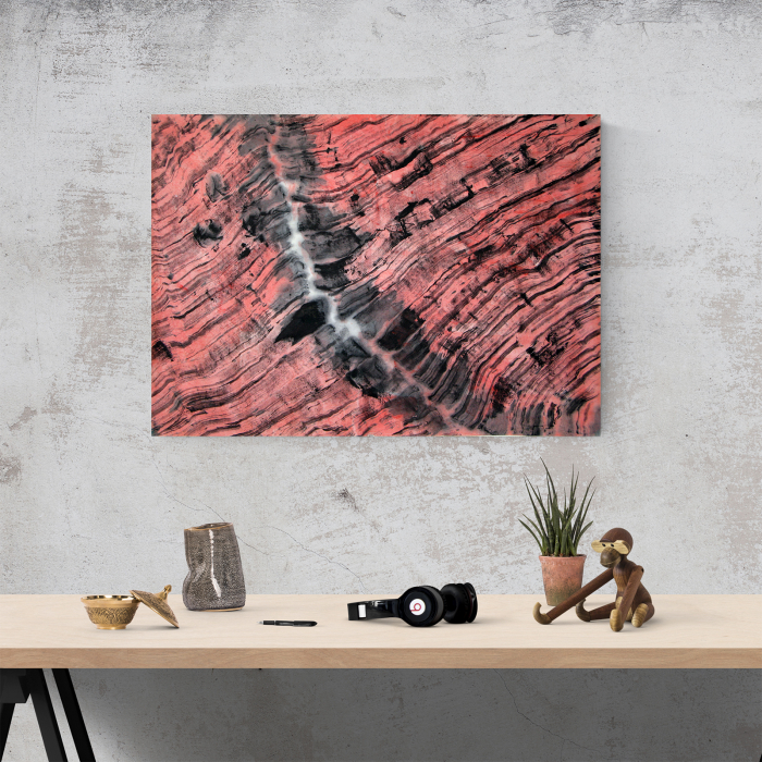 Tablou canvas abstract, Urme in lemn 1