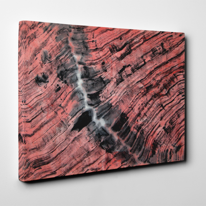 Tablou canvas abstract, Urme in lemn 3