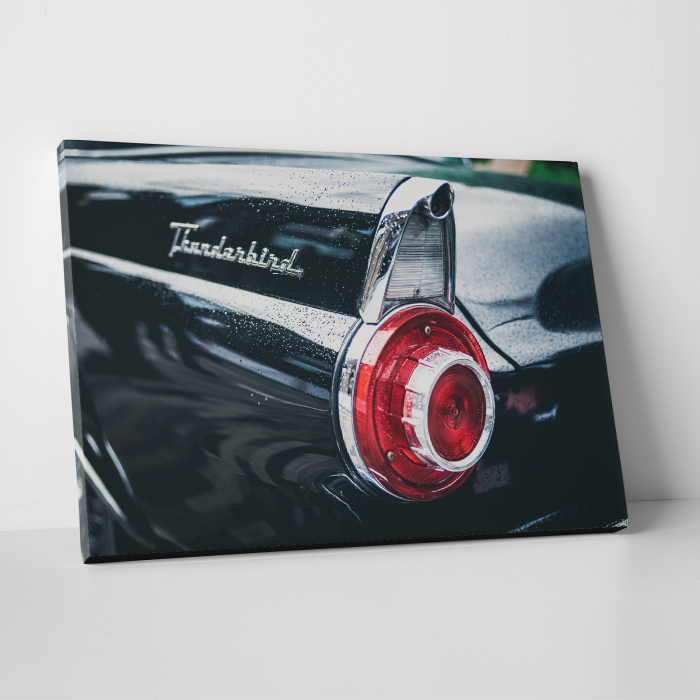 Tablou canvas auto-moto, Black Old Ford Thunderbird 0