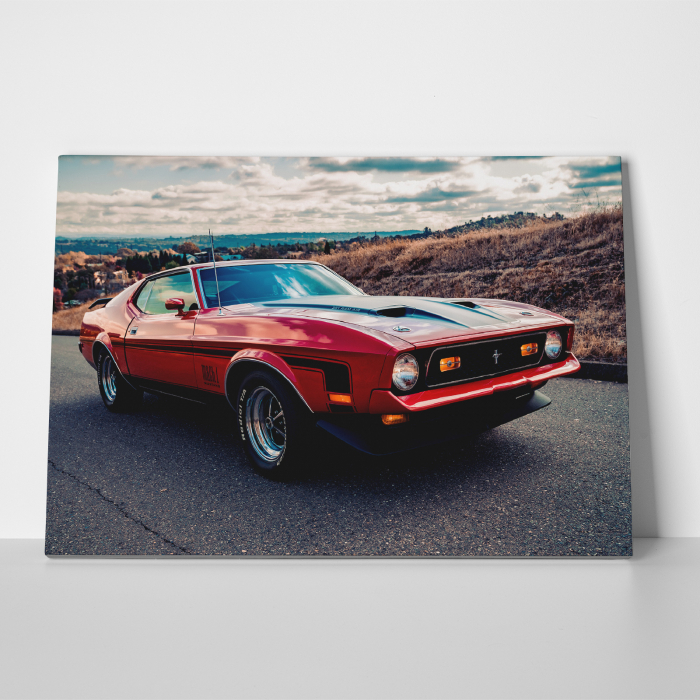Tablou canvas auto-moto, Red American Muscle 2