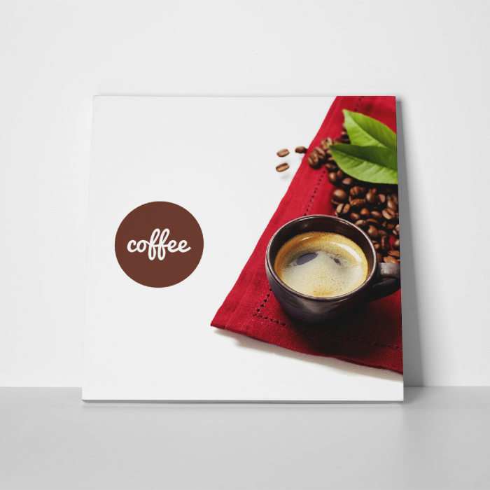 Tablou canvas bucatarie, Coffee and Beans 4
