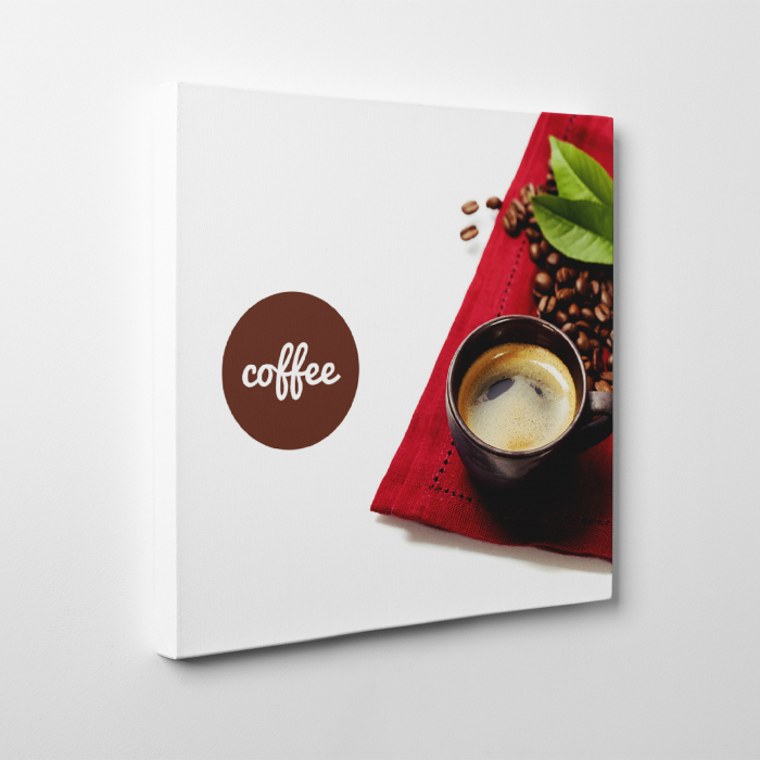 Tablou canvas bucatarie, Coffee and Beans 3
