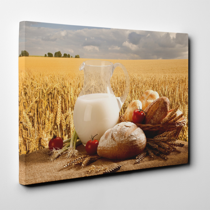 Tablou canvas bucatarie, Milk and Bread 3