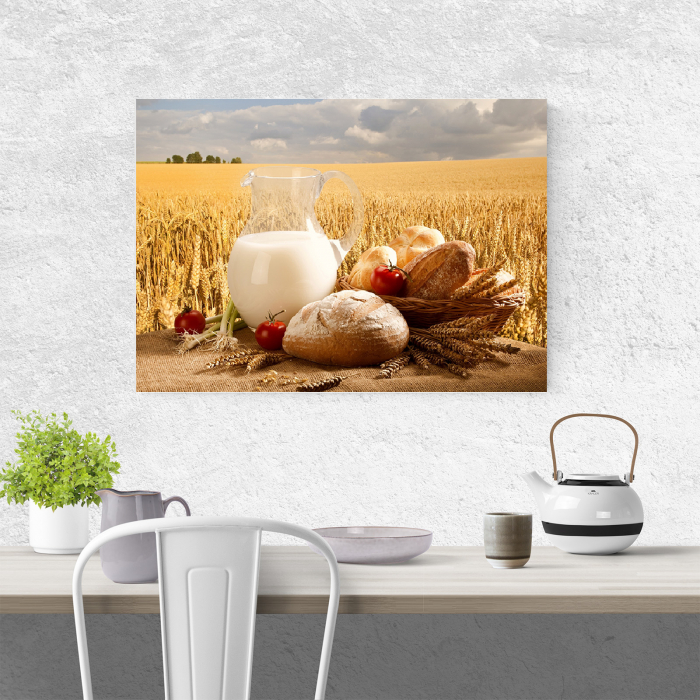 Tablou canvas bucatarie, Milk and Bread 1