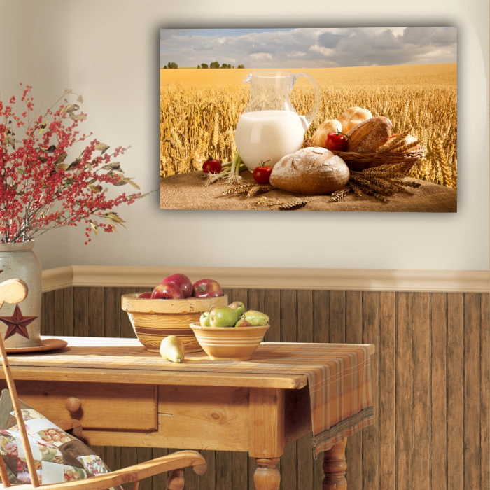 Tablou canvas bucatarie, Milk and Bread 2