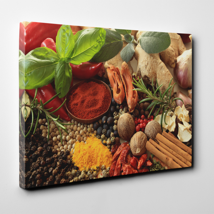 Tablou canvas bucatarie, Nuts and Spices 2