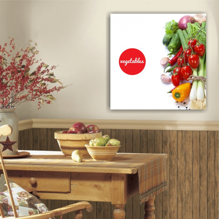 Tablou canvas bucatarie, Vegetables Salad 2