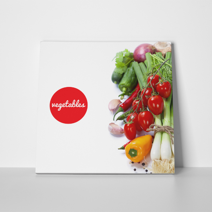 Tablou canvas bucatarie, Vegetables Salad 4