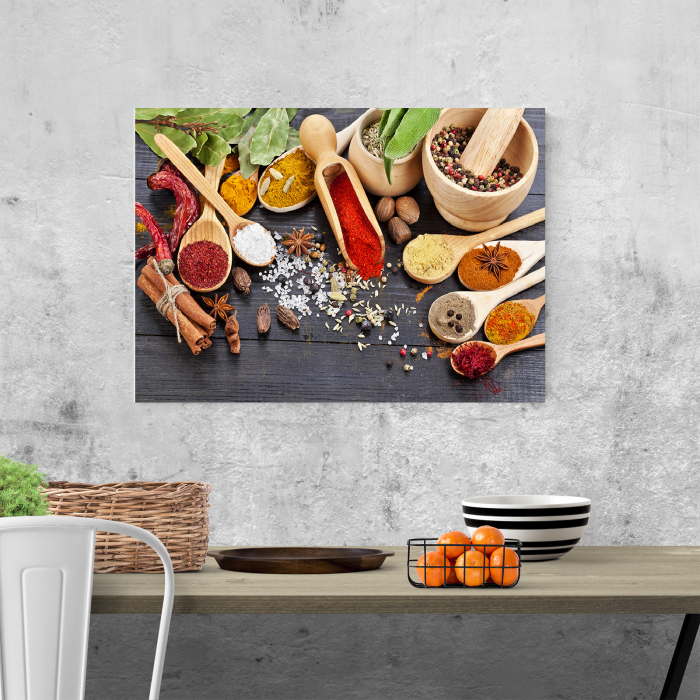Tablou canvas bucatarie, Wooden Spices 1