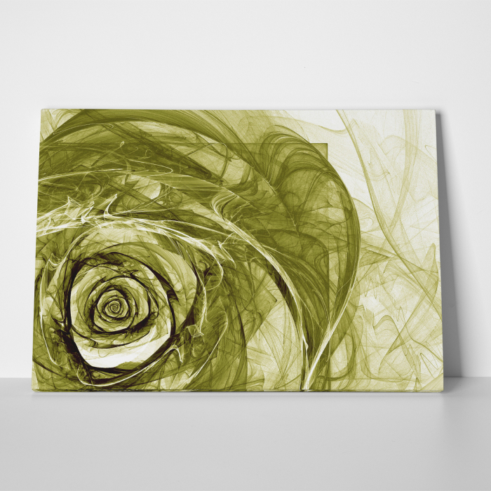 Tablou canvas floral, Green Wireframe Roses 3