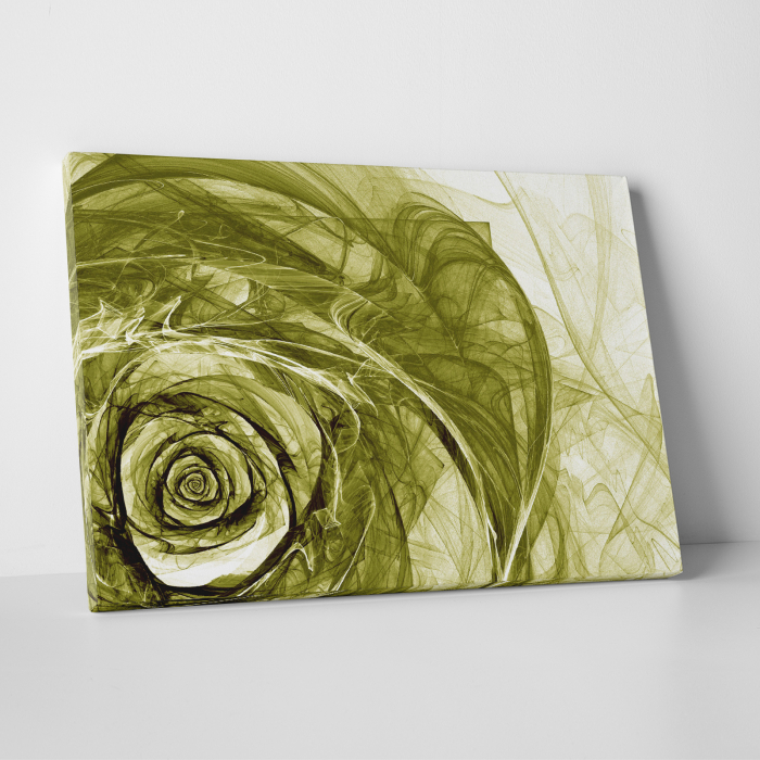 Tablou canvas floral, Green Wireframe Roses 0