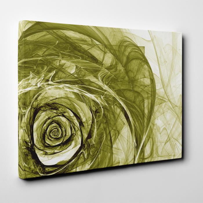 Tablou canvas floral, Green Wireframe Roses 4