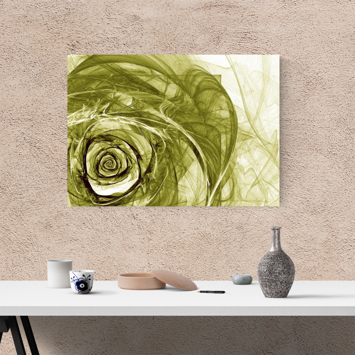 Tablou canvas floral, Green Wireframe Roses 1