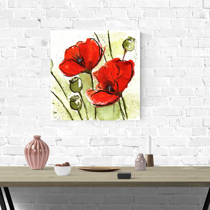 Tablou canvas floral, Poppies 1