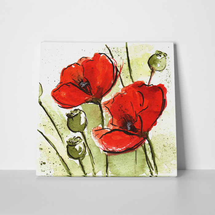 Tablou canvas floral, Poppies 3