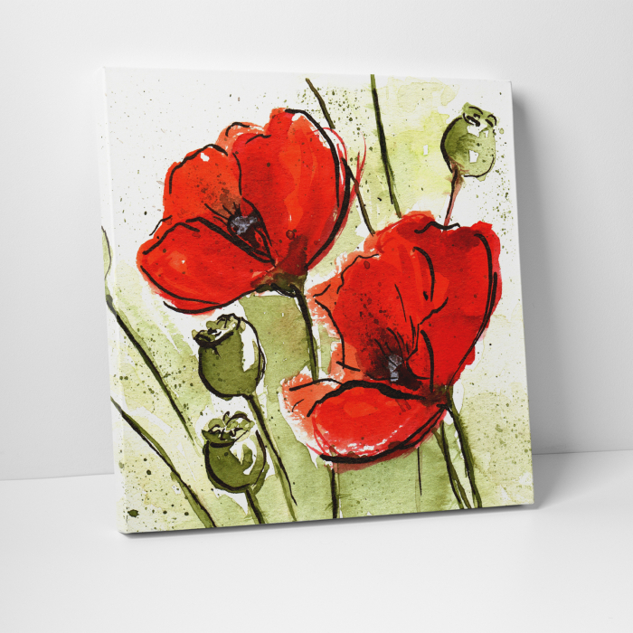 Tablou canvas floral, Poppies 0