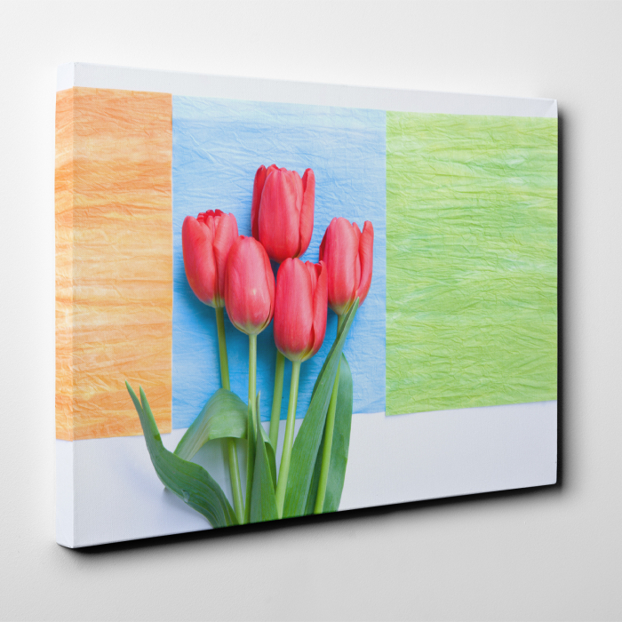Tablou canvas floral, Red Tulips 2