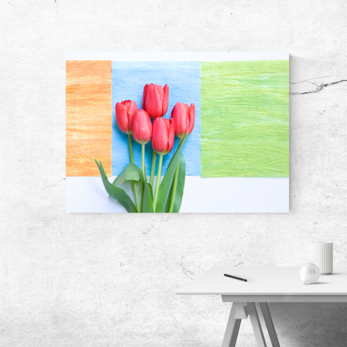 Tablou canvas floral, Red Tulips 3