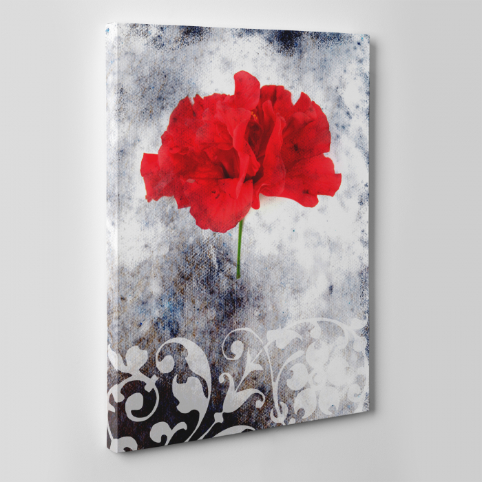 Tablou canvas floral, Single Red 3