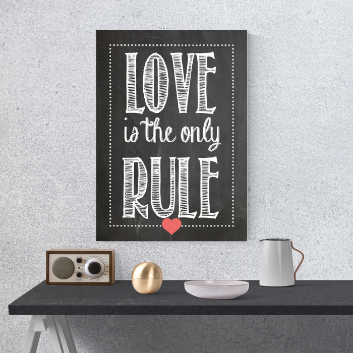 Tablou canvas motivational, Love is the only rule 3