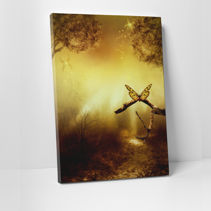 Tablou canvas natura, Gold Butterfly 0