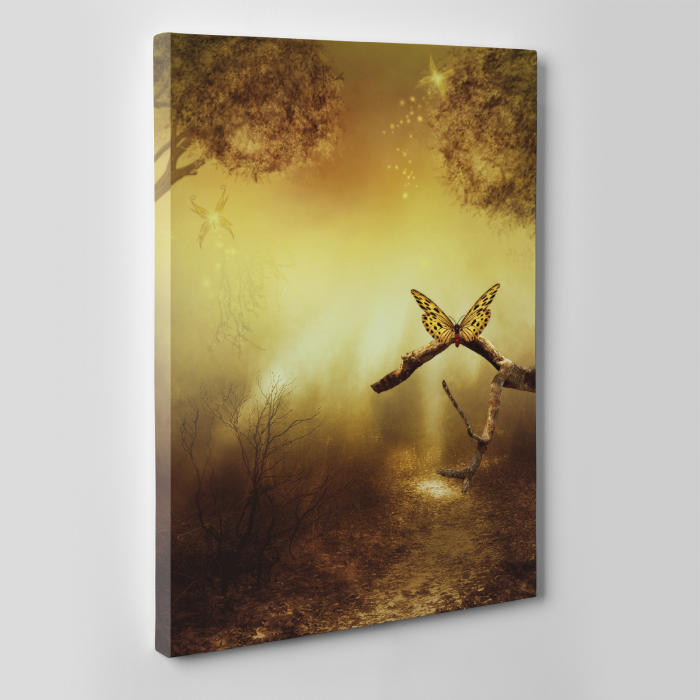 Tablou canvas natura, Gold Butterfly 1