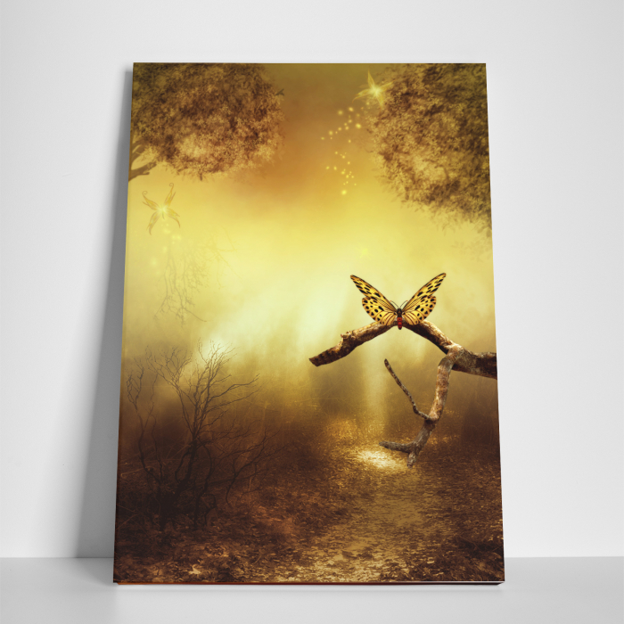 Tablou canvas natura, Gold Butterfly 2