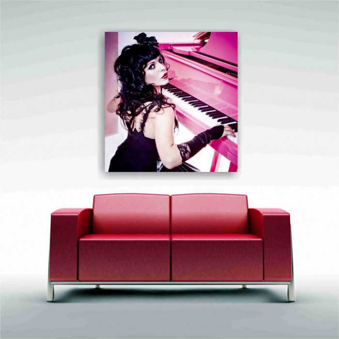 Tablou canvas people, Pink Piano Girl 3