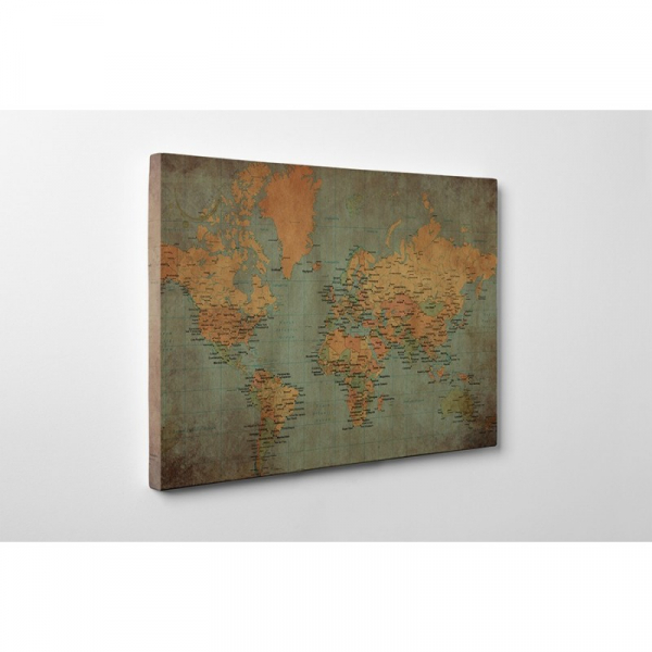 Tablou canvas retro, World Old Map 0